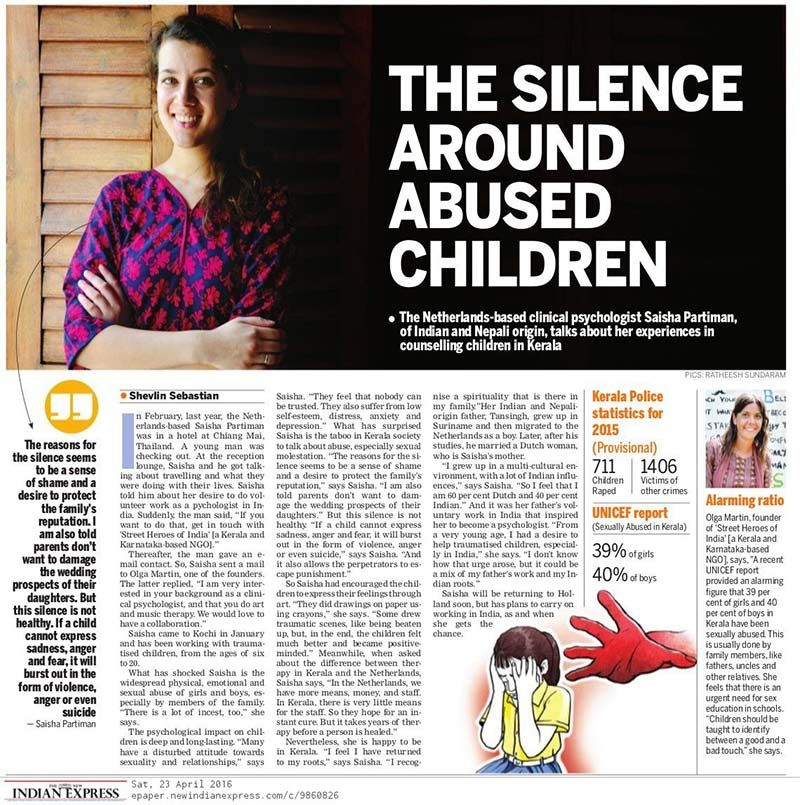Article clip from The New Indian Express